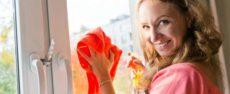 Как мыть пластиковые окна, чтобы не было разводов и царапин